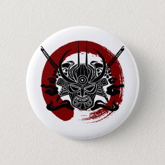独身のな武士のEnsoの血の円 缶バッジ