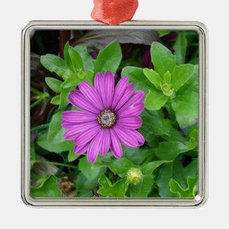 独身のな紫色のdalia メタルオーナメント