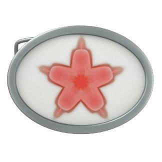 独身のな赤statの花 卵形バックル