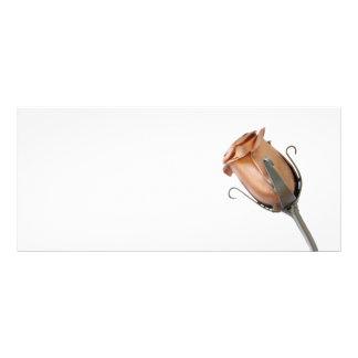 独身のな鋼鉄ばら色カード ラックカードテンプレート