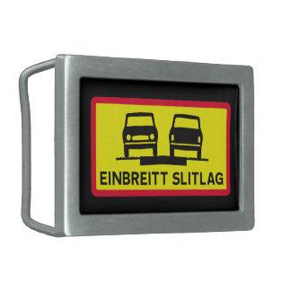 独身の幅の表面、交通標識、アイスランド 長方形ベルトバックル