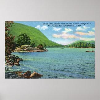 狭いところ、クック諸島へのHulettsの入口 ポスター