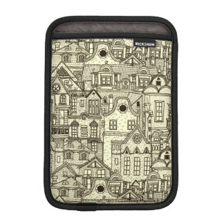 狭い都市は不完全なイラストレーションパターンを収容します iPad MINIスリーブ