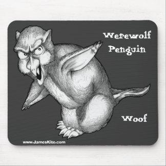 狼人間のペンギン: Woof マウスパッド