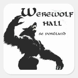 狼人間のホールのステッカー スクエアシール