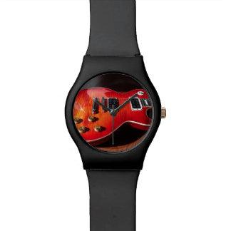 猛烈なエレキギターの腕時計 腕時計