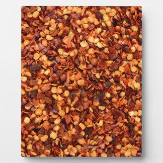 猛烈な乾燥された唐辛子の薄片 フォトプラーク