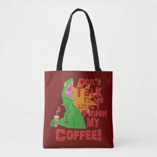 猛禽およびコーヒー トートバッグ