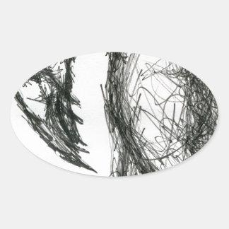 猛禽Vultaris 楕円形シール