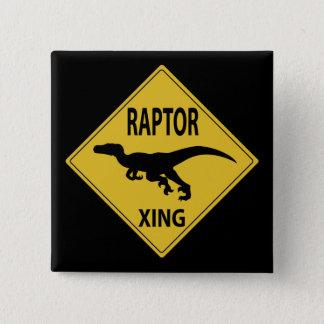 猛禽Xing 5.1cm 正方形バッジ