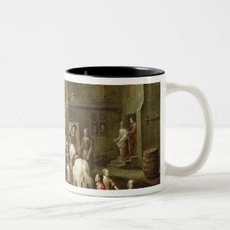 猟師を持つオレンジのウィリアム王子 ツートーンマグカップ