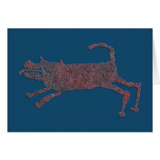 猟犬の岩石彫刻 カード
