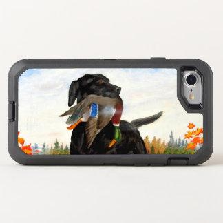 猟犬の絵画のiPhone 7の場合 オッターボックスディフェンダーiPhone 8/7 ケース