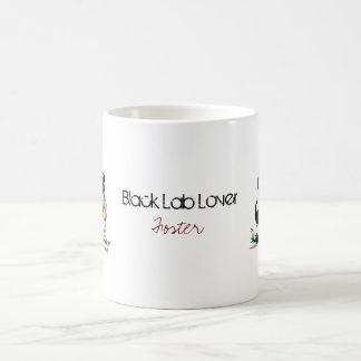 猟犬-黒いラブラドル・レトリーバー犬のマグ コーヒーマグカップ