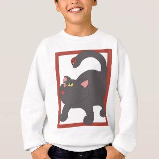 猫およびてんとう虫 スウェットシャツ