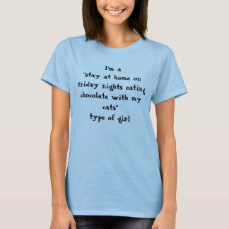 猫およびチョコレート Tシャツ