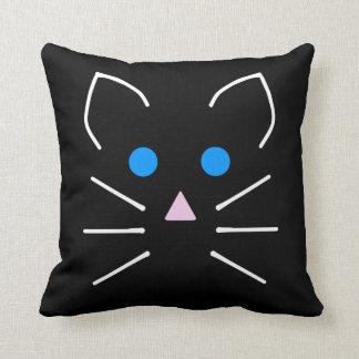 猫およびマウスのかわいいの青い目の漫画動物 クッション