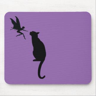 猫および妖精のデザイン マウスパッド