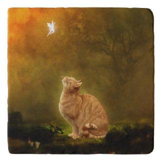 猫および妖精 トリベット