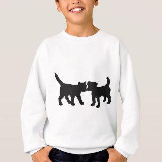 猫および犬 スウェットシャツ