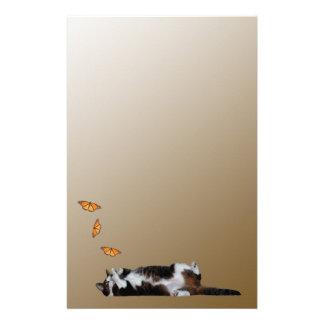猫および蝶 便箋