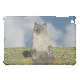 猫および蝶 iPad MINI CASE