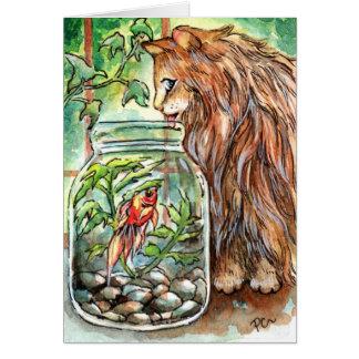 猫および金魚 カード