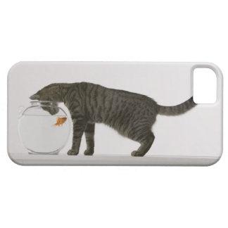 猫および金魚 iPhone SE/5/5s ケース