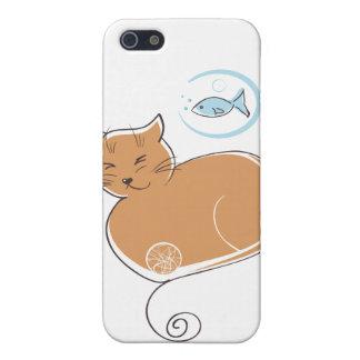 猫および魚I iPhone 5 ケース