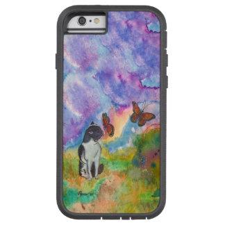 猫および(昆虫)オオカバマダラ、モナークのiPhone 6/6sの場合 Tough Xtreme iPhone 6 ケース