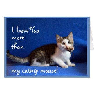猫からの幸せな母の日 グリーティングカード