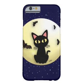 猫が付いている月 iPhone 6 ベアリーゼアケース