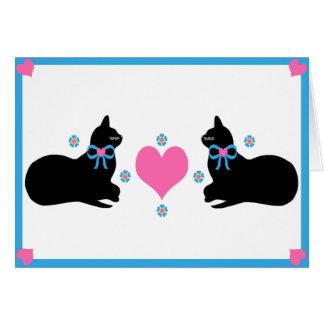 """""""猫ちゃん""""の挨拶状love カード"""