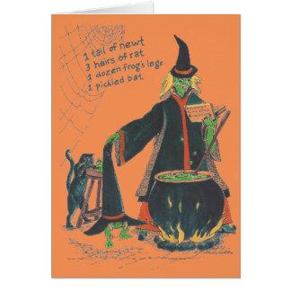 猫との魔法使いの醸造物のハッピーハローウィン カード