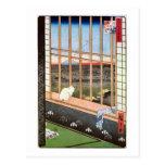 猫と富士山、広重猫および富士山、Hiroshige ポストカード