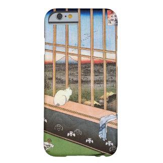 猫と富士山、広重猫および富士山、Hiroshige、Ukiyo-e Barely There iPhone 6 ケース