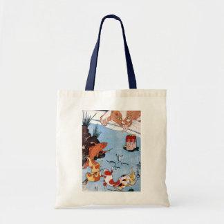 猫と金魚、国芳猫および金魚、Kuniyoshi、Ukiyo-e トートバッグ