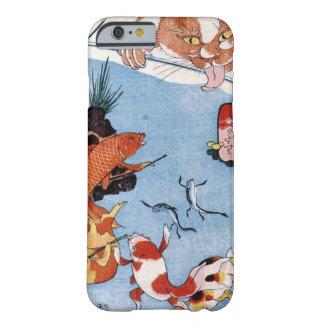猫と金魚、国芳猫および金魚、Kuniyoshi、Ukiyo-e Barely There iPhone 6 ケース