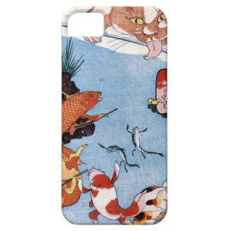 猫と金魚、国芳猫および金魚、Kuniyoshi、Ukiyo-e iPhone SE/5/5s ケース