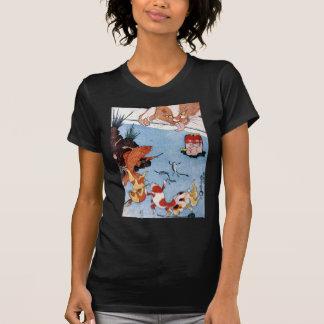 猫と金魚、国芳猫および金魚、Kuniyoshi、Ukiyo-e Tシャツ