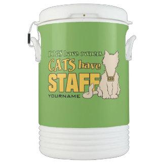 猫にスタッフのカスタムのクーラーがあります ドリンククーラー