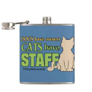 猫にスタッフの習慣のフラスコがあります フラスク