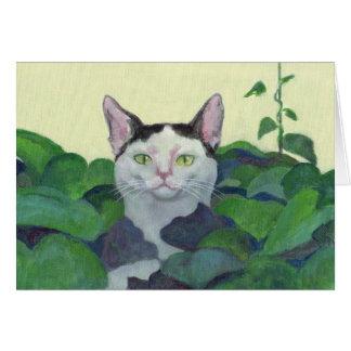 猫のかくれんぼカード グリーティングカード