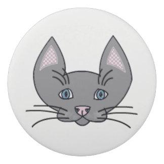猫ので。 円形の消す物 消しゴム