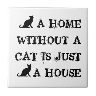 猫のない家はちょうど家のタイルのデザインです タイル