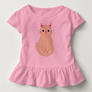猫のひだの上 トドラーTシャツ