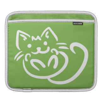 猫のイラストレーションカスタムな色のiPadの袖 iPadスリーブ