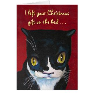 猫のクリスマスのギフト カード