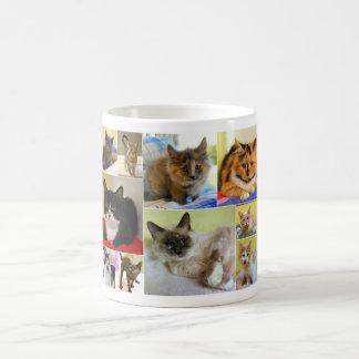 猫のコラージュのマグ コーヒーマグカップ