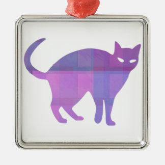 猫のシルエット メタルオーナメント